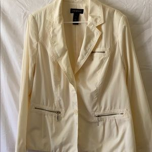 Lane Bryant ivory jacket 20 button front blazer